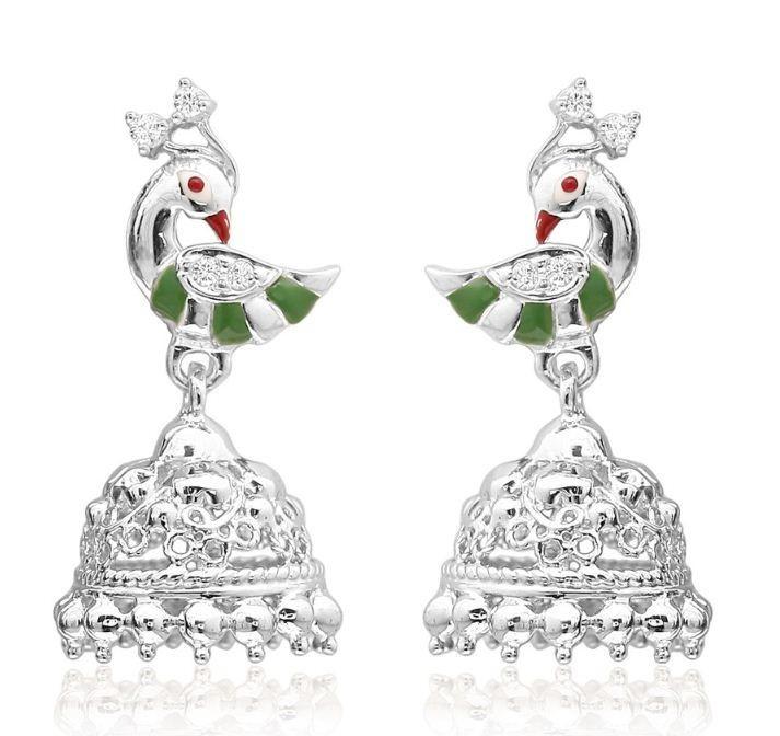 Buy trendy Jhumkas online  Silver earring shopping  Arnia